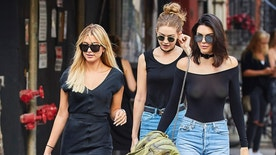 Gigi Hadid and Hailey Baldwin spotted going for a walk in the East Village neighborhood of NYC<P>Pictured: Gigi Hadid, Hailey Baldwin, Kendall Jenner<B>Ref: SPL1305739  210616  </B><BR/>Picture by: J. Webber / Splash News<BR/></P><P><B>Splash News and Pictures</B><BR/>Los Angeles:310-821-2666<BR/>New York:212-619-2666<BR/>London:870-934-2666<BR/>photodesk@splashnews.com<BR/></P>