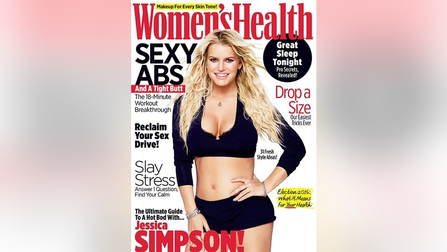Jessica Simpson womens health cover