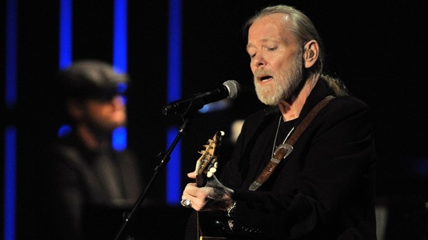 File- This Oct. 13, 2011, file photo shows Greg Allman performing at the Americana Music Association awards show in Nashville, Tenn. (AP Photo/Joe Howell, File)