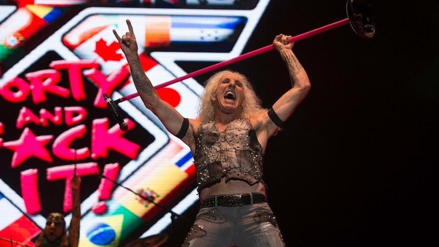 In this July 23, 2016, file photo, Dee Snider of Twisted Sister performs during the Hell and Heaven music festival in Mexico City.