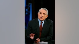 """Television journalist Dan Rather addresses his views on the state of television news on the FOX News Channel show """"Your World"""" with David Asman in New York June 12, 2007.  REUTERS/Lucas Jackson (UNITED STATES)"""