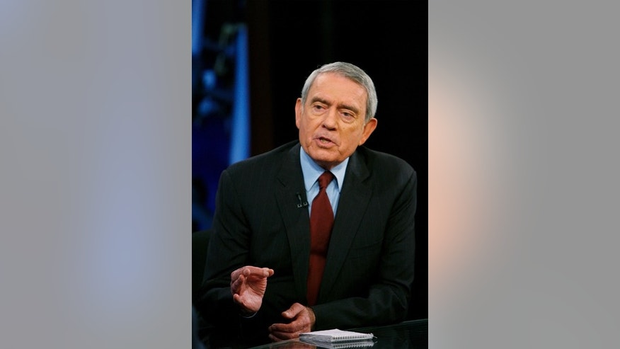 "Television journalist Dan Rather addresses his views on the state of television news on the FOX News Channel show ""Your World"" with David Asman in New York June 12, 2007.  REUTERS/Lucas Jackson (UNITED STATES)"