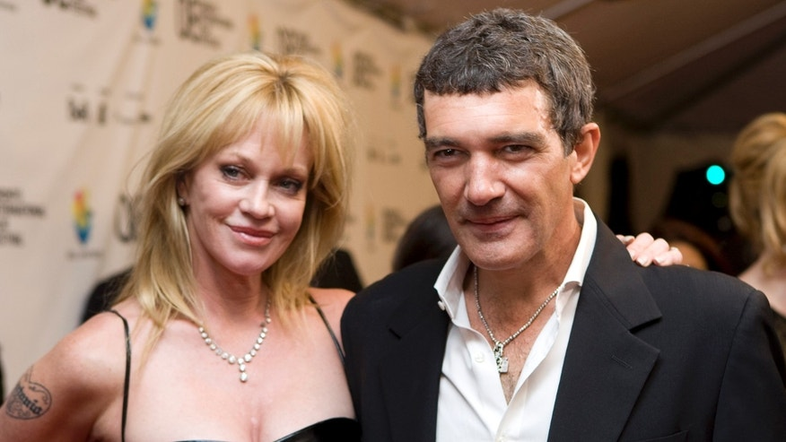 Antonio Banderas and Melanie Griffith in a Sept. 7, 2008 file photo.