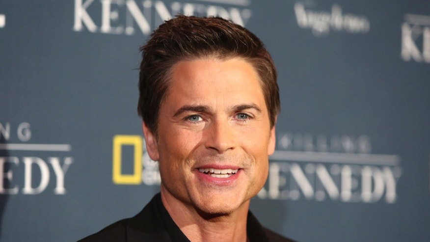 "Rob Lowe, cast member of the National Geographic Channel drama program ""Killing Kennedy"" attends the film's premiere in Los Angeles on November 10, 2013."