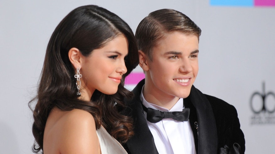 Selena Gomez and Justin Bieber in a November 2011 file photo.