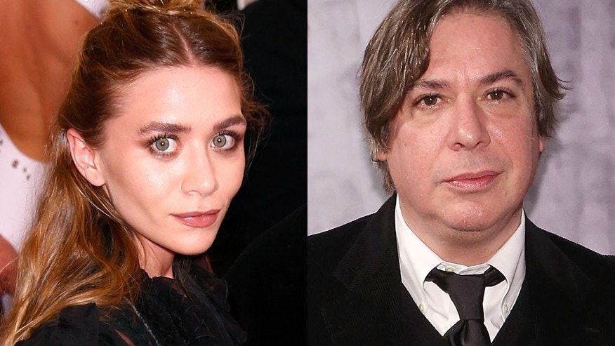 Actress Ashley Olsen (left) and painter George Condo.