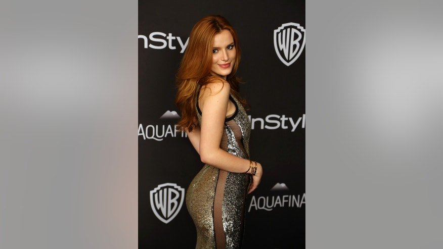 Actress Bella Thorne attends the 17th Annual instyle and Warner Bros. Pictures Golden Globes After Party in Beverly Hill, California January 10, 2016.