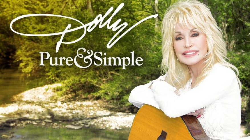 "This CD cover image released by Sony Music Nashville shows ""Pure & Simple,"" the latest release by Dolly Parton. (Sony Music Nashville via AP)"