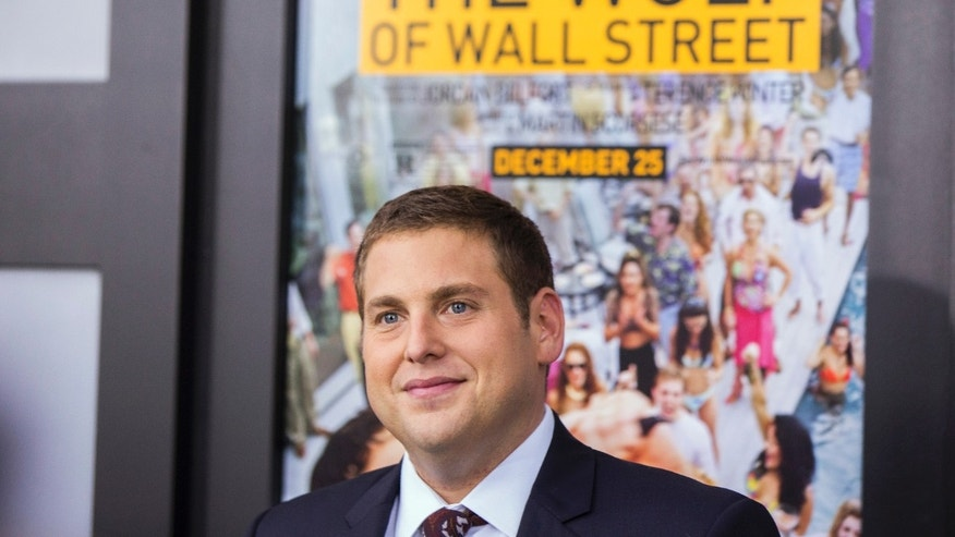 "Cast member Jonah Hill arrives for the premiere of the film ""The Wolf of Wall Street"" in New York December 17, 2013."