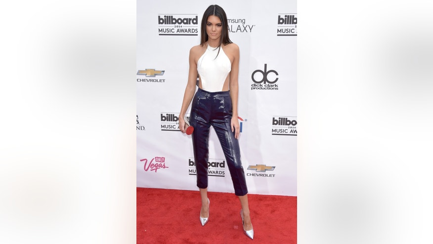 Kendall Jenner arrives at the Billboard Music Awards at the MGM Grand Garden Arena on Sunday, May 18, 2014, in Las Vegas. (Photo by John Shearer/Invision/AP)