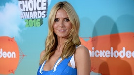 Model and television personality Heidi Klum arrives at Nickelodeon's Kids' Choice Awards in Inglewood, California March 12, 2016. REUTERS/Phil McCarten - RTX28VZE