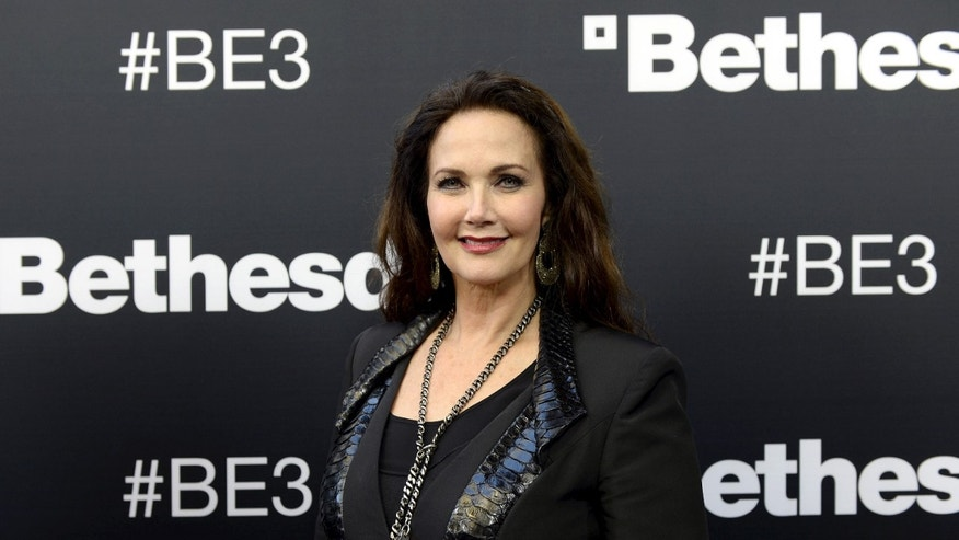 Lynda Carter at the opening of the Electronic Entertainment Expo in 2015.