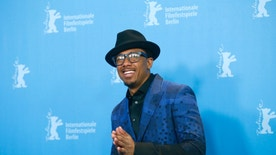 Actor Nick Cannon poses during a photocall to promote the movie 'Chi-Raq' at the 66th Berlinale International Film Festival in Berlin, Germany February 16, 2016.       REUTERS/Hannibal Hanschke  - RTX27839