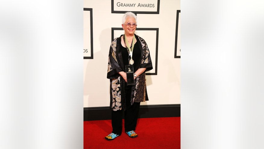 Singer Janis Ian at the Grammy Awards in Feb, 2016.