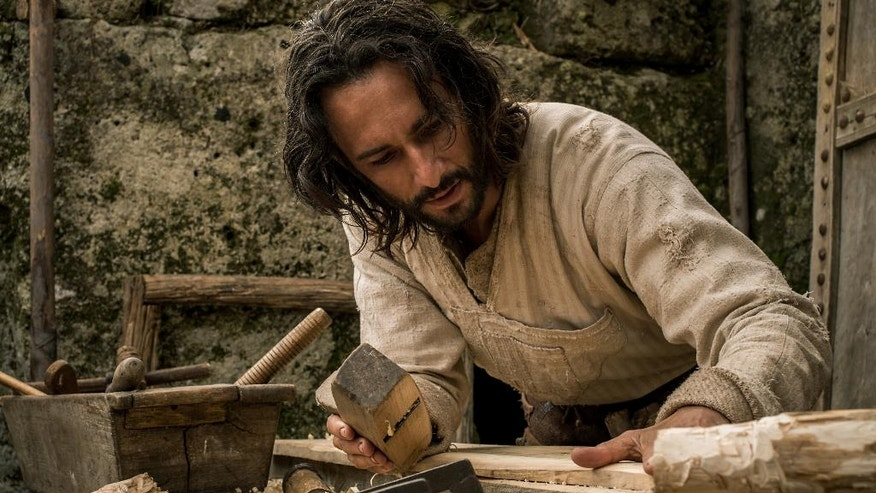 "This image released by Paramount Pictures shows Rodrigo Santoro portraying Jesus in a scene from ""Ben-Hur."""