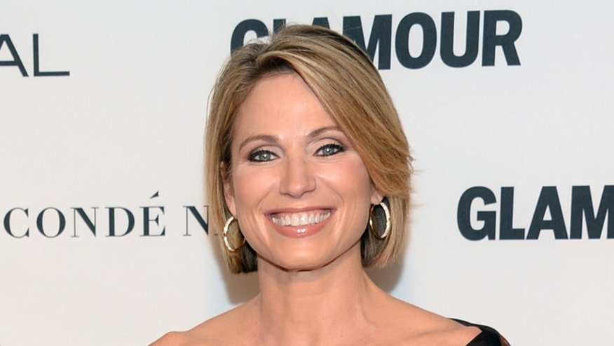 In this Nov. 9, 2015 file photo, Amy Robach attends the 25th Annual Glamour Women of the Year Awards in New York. Robach has apologized for using a term for African Americans on Monday's broadcast of the ABC program.