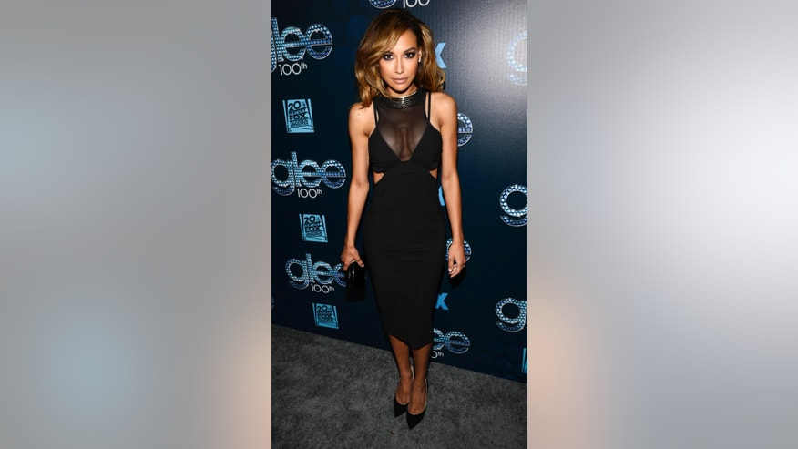 Cast member Naya Rivera attends the the 100th episode celebration of Glee in West Hollywood, California March 18, 2014.