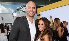 ARLINGTON, TX - APRIL 19:  Professional football player Mike Caussin (L) and actress/singer Jana Kramer attend the 50th Academy Of Country Music Awards at AT&T Stadium on April 19, 2015 in Arlington, Texas.  (Photo by Michael Buckner/ACM2015/Getty Images for dcp)