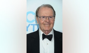 """FILE - In this June 22, 2014, file photo, Charles Osgood arrives at the Daytime Emmy Awards Afterparty at The Beverly Hilton in Beverly Hills, Calif. Osgood, who has said """"good morning"""" to his audience every Sunday, will say """"goodbye"""" as host of """"CBS News Sunday Morning."""" He announced his Sept. 25, 2016, departure on the Sunday, Aug. 28, 2016, edition. (Photo by Katy Winn/Invision/AP, File)"""
