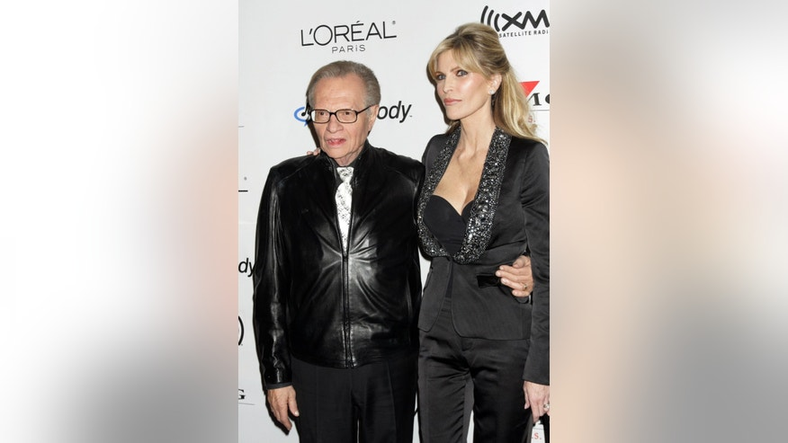 Larry King and his wife Shawn Southwick who have been engulfed in a cheating scandal.