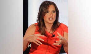 Law & Order: SVU cast member Mariska Hargitay takes part in a panel discussion at the NBC Universal Summer Press Day 2012 in Pasadena, California April 18, 2012. REUTERS/Fred Prouser (UNITED STATES - Tags: ENTERTAINMENT) - RTR30WNV