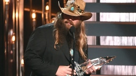 Chris Stapleton accepts the award for new artist of the year at the 49th annual CMA Awards at the Bridgestone Arena on Wednesday, Nov. 4, 2015, in Nashville, Tenn.