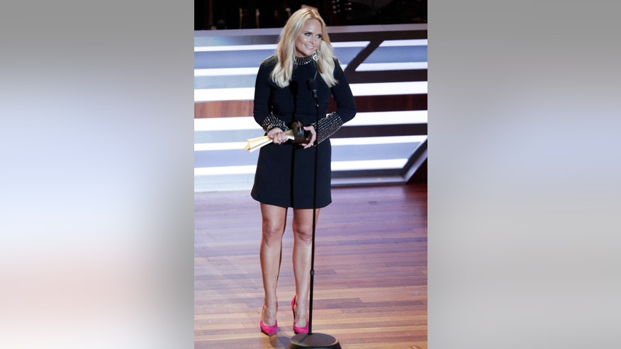 Miranda Lambert speaks onstage after receiving the inaugural Merle Haggard Spirit Award at 10th Annual ACM Honors at Ryman Auditorium Tuesday, Aug. 30, 2016, in Nashville, Tenn.
