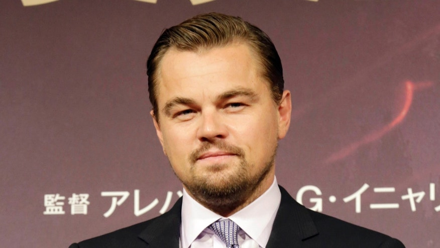 "FILE - In this March 23, 2016 file photo, actor Leonardo DiCaprio poses during a photo session of the movie ""The Revenant"" in Tokyo."
