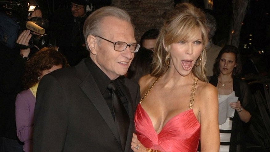 Larry King with wife Shawn in 2006.