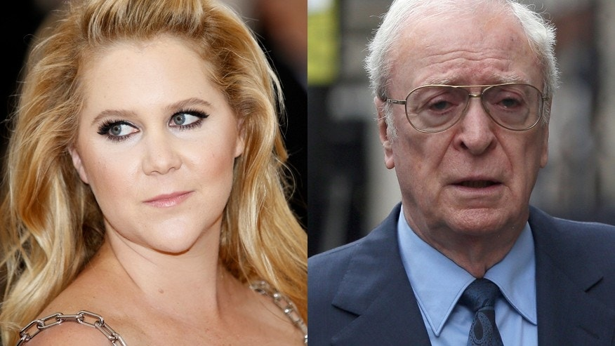 Michael Caine not amused by Amy Schumer's raunchy speech