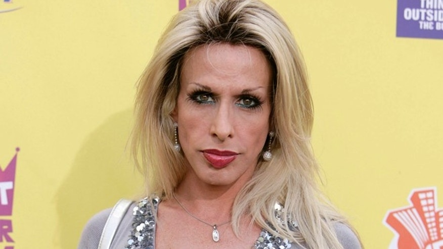 """In this July 22, 2007 file photo, Alexis Arquette arrives at the """"Comedy Central Roast of Flavor Flav"""" in Burbank, Calif."""