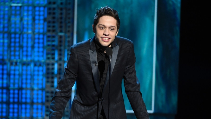 In this March 14, 2015, file photo, Pete Davidson speaks at a Comedy Central Roast at Sony Pictures Studios in Culver City, Calif.