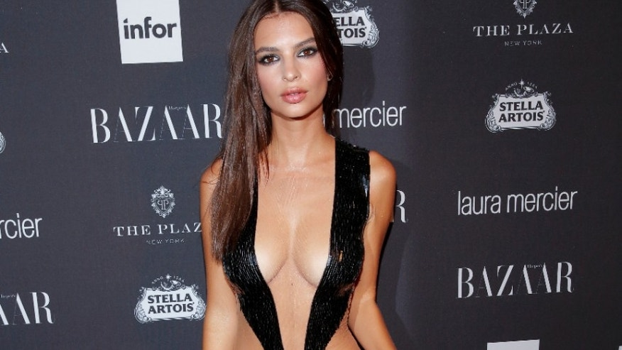 Gone Girl's Emily Ratajkowski defended by fashion designer over low-cut dress