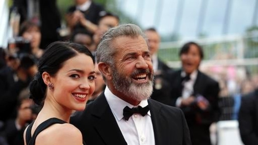 Mel Gibson and girlfriend Rosalind Ross. She is expecting the actor's ninth child.