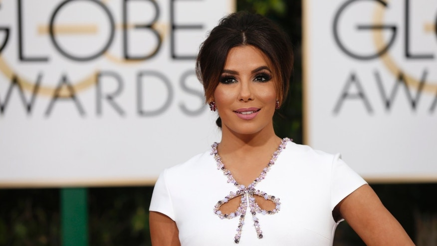 Eva Longoria arriving at the Golden Globes in January, 2016.