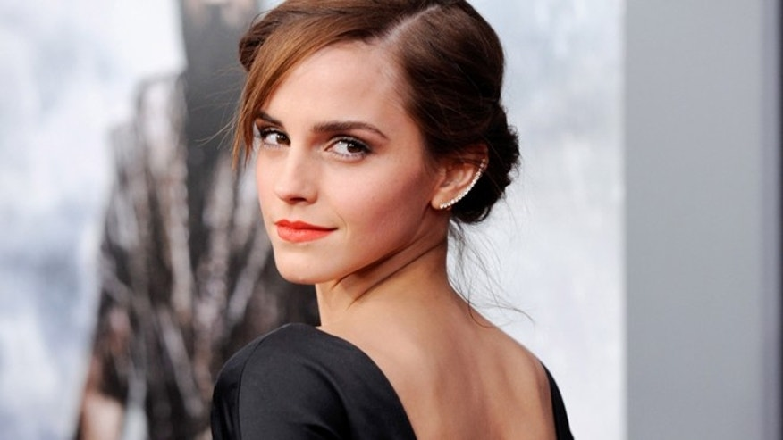 "This March 26, 2014 file photo shows actress Emma Watson at the premiere of ""Noah,"" in New York."