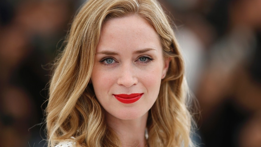 "Cast member Emily Blunt poses during a photocall for the film ""Sicario"" in competition at the 68th Cannes Film Festival in Cannes, southern France, May 19, 2015."