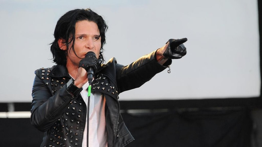 "FILE - In this May 25, 2013 file photo, Corey Feldman performs in Los Angeles. After being widely ridiculed for a music performance on Friday, Sept. 16, 2016, on the ""Today"" show, Feldman is planning a return to the show. Pink, Kesha and Miley Cyrus are among Feldman's celebrity supporters. (Photo by Katy Winn/Invision/AP, File)"