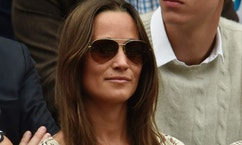 Pippa Middleton on Centre Court at the Wimbledon Tennis Championships in London, July 12, 2015.