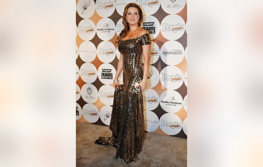 "Venezuelan actress Alicia Machado arrives to attend People En Espanol's annual ""50 Most Beautiful"" event in New York, May 15, 2012.  REUTERS/Eduardo Munoz (UNITED STATES - Tags: ENTERTAINMENT) - RTR324PZ"