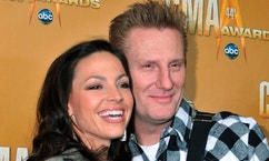 Singer/songwriters Joey + Rory, nominees for Vocal Duo of the Year, arrive at the 44th annual Country Music Association Awards in Nashville, Tennessee November 10, 2010.   REUTERS/Tami Chappell   (UNITED STATES - Tags: ENTERTAINMENT) - RTXUH2D