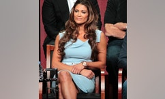 """Cast member Eve Torres attends a panel for """"Stars Earn Stripes"""" during the NBC television network portion of the Television Critics Association Summer press tour in Beverly Hills, California July 24, 2012."""