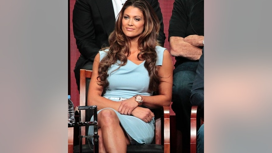 "Cast member Eve Torres attends a panel for ""Stars Earn Stripes"" during the NBC television network portion of the Television Critics Association Summer press tour in Beverly Hills, California July 24, 2012."
