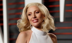 Lady Gaga arrives at the Vanity Fair Oscar Party in Beverly Hills, California, U.S. February 28, 2016.  REUTERS/Danny Moloshok/File Photo - RTX2LD1D