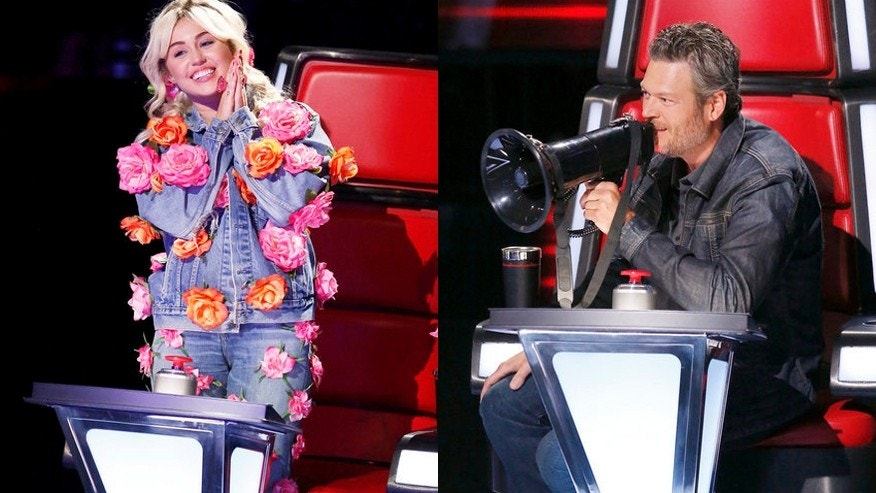 miley cyrus blake shelton the voice nbc