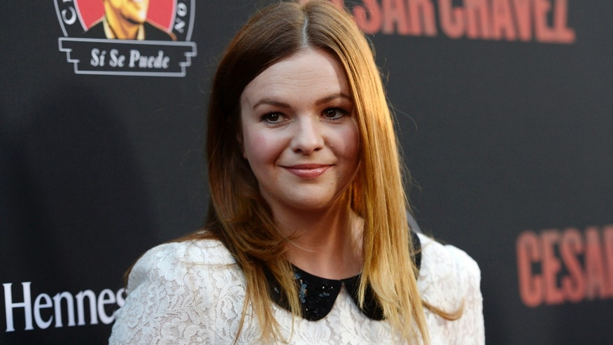 "Actress Amber Tamblyn attends the premiere of ""Cesar Chavez"" at the TCL Chinese Theater in Hollywood, California, March 20, 2014."