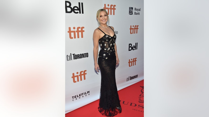 "Actress Kate Hudson attends the ""Deepwater Horizon"" premiere on day 6 of the Toronto International Film Festival at Roy Thomson Hall on Tuesday, Sept. 13, 2016, in Toronto. (Photo by Evan Agostini/Invision/AP)"