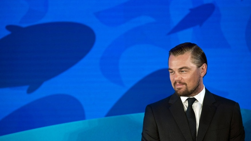 Leonardo Dicaprio speaking at the Our Ocean, One Future conference