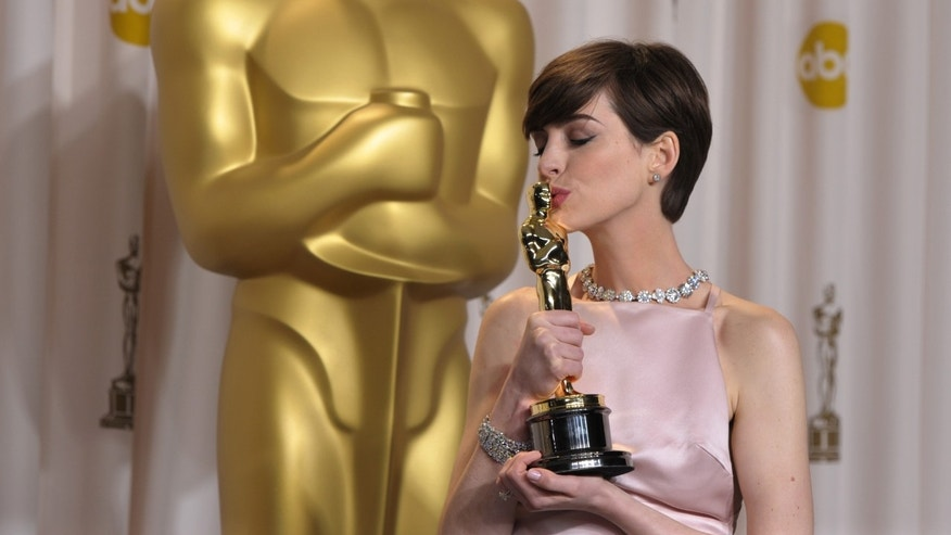 Anne Hathaway at the Oscars at the Dolby Theatre on Sunday Feb. 24, 2013, in Los Angeles. (Photo by John Shearer/Invision/AP)