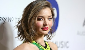 FILE - In this Feb. 15, 2016 file photo, Miranda Kerr arrives at the Warner Music Group Grammy Awards After Party at Milk Studios in Los Angeles. Los Angeles prosecutors on Tuesday, Oct. 25, charged Shaun Anthony Haywood, a 29-year-old native of Brisbane, Australia, with three felony charges including attempted murder after he was shot and arrested outside Kerr's Malibu home on Oct. 14, after he slashed a security guard with a knife. (Photo by Rich Fury/Invision/AP, File)